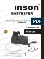 Gastester Gastester. Manual. Pyright Gunson Copyright Gunso. on Copyright. Ght Gunson Copyright Gunson c. Right Gunson Copyright