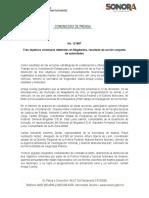 13-12-2018 Tres objetivos criminales detenidos en Magdalena, resultado de acción conjunta de autoridades