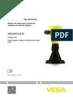 41715 ES VEGAPULS 61 Profibus PA Homologación Según La Directiva de Radio LPR