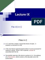 Lecture IX