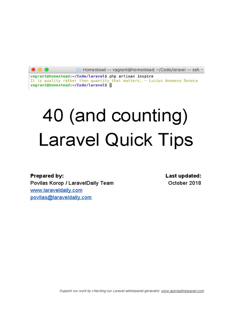 Laravel Tips 1 | Password | Parameter (Computer Programming)