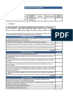 Formatos de Evaluacion de Desempeño