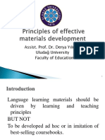 Principle of Materials Development