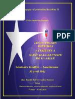 Fondo Doc 21 - Les Ouvrages Imprimes Attribues a Saint Jean-Baptiste de La Salle-Lasallanium 1961 (Frere Maurice-Auguste Hermans)
