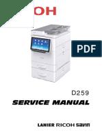 SERVICE MANUAL RICOH MP 305+
