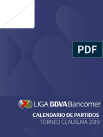 Calendario Liga Mx Torneo Clausura 2019
