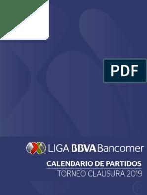 Calendario De Liga Bbva 15 16.Calendario Liga Mx Torneo Clausura 2019
