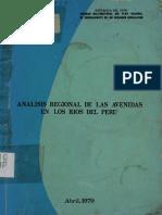 Analisis Regional de Las Avenidas de Los Rios Del Peru
