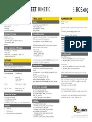 ROS_Cheat pdf | Directory (Computing) | Software Engineering