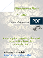 Renaissance Period (Periods of Musical History)