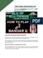 Situs Agen QQ Online IDominoQQ