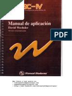 Manual Test (WISC-IV) Aplicacion