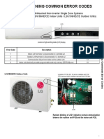 LG  Air Conditioners common error codes
