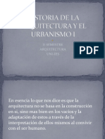 Historia de La Arquitectura y El Urbanismo i Unidad i
