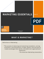 Marketing Essentials - Session 1