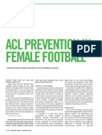 Acl Prevention in Female Football