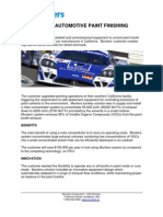 Case Study Automotive Paint Finishing