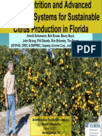 Foliar Nutrition and Advanced Production Systems for Sustainable Citrus Production