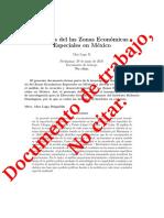 Analisis de las ZEE en México