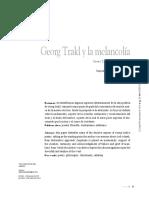 G. Trakl y La Melancolia