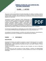 Dinámica y Nomenclatura de Las Cuentas Del Sistema Financiero