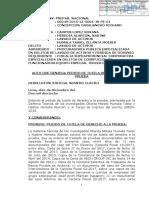 Resolución por pedido de defensa de Humala-Heredia