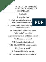 Analisis de La Ley 140-15 Del Notariado en La República Dominicana