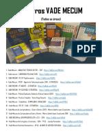 35 Livros VADE MECUM (Todas as Áreas)
