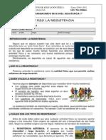 Ficha  resistencia 2ºESO