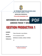 Informen de Granulometria