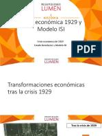 2.12 Crisis Economica y Modelo ISI