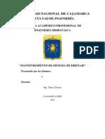 Manteniemiento de Sistema de Drenaje(1)