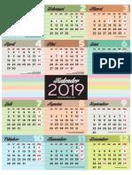 Kalender 2019 A3