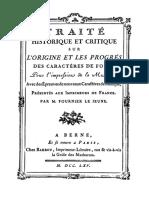 Traité historique et critique sur l'origine et les progrès des caractères de fonte pour l'impression de la musique