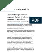 Dia Da Prisão de Lula
