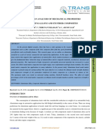 A STUDY AND AN ANALYSIS OF MECHANICAL PROPERTIES OF ALUMINIUM ALLOYS AND ITS FIBER COMPOSITES