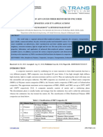 AN OVERVIEW OF ADVANCED FIBER REINFORCED POLYMER COMPOSITES AND IT'S APPLICATIONS