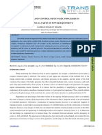 AN ANALYSIS AND CONTROL OF DYNAMIC PROCESSES IN MECHANICAL PARTS OF POWER EQUIPMENT