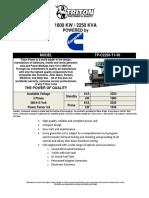 2250 kVA Cummins Diesel Generator Set - Non EPA - 50Hz TP-C2250-T1-50.pdf