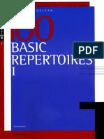 100 Basic Repertoires Volume 1