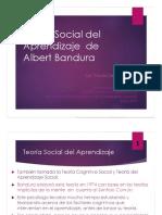 Teoria Del Aprendizaje Social de Albert