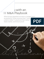 Winning With an IT MandA Playbook