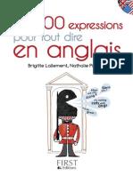 Les 800 Expressions Pour Tout Dire en Anglais