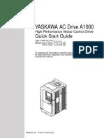 Yaskawa A1000 Quick Start