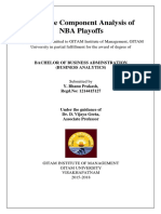 Principal Component Analysis of NBA Playoffs Data