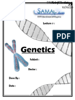 Genetics, Lecture 6 (Lecture Notes)
