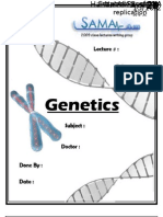 Genetics, Lecture 7 (Lecture Notes)