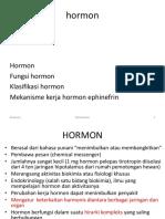 Biokimia I (Hormon)
