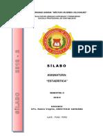 silabo estadistica  UANCV
