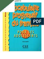 Vocabulaire- Progressif- Du- Francais- Pour Ado